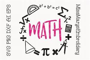 Math School Subject Frame - SoFontsy