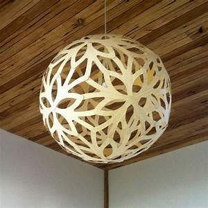 Luminaire Suspension Bois : floral lampe en bois pour salon chambre declin en naturel couleur ou noir design d ~ Teatrodelosmanantiales.com Idées de Décoration