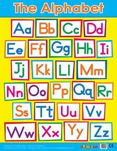 wall charts alphabet wall poster grid free delivery With large alphabet letters for classroom wall