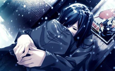 nieve de las mujeres de invierno tristes anime girls