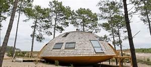 maison ronde en bois maison ronde domespace With maison bois ronde tournante