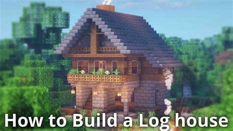 minecraft log house tutorial   build  house  minecraft youtube