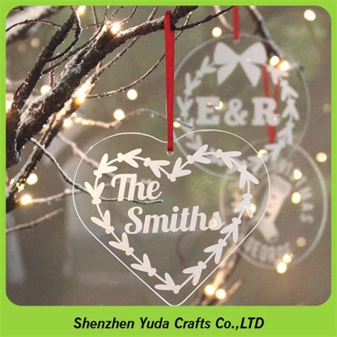personalised engraved perspex christmas decorations laser