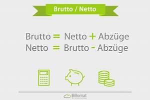 Brutto Netto Unterschied Rechnung : brutto netto was ist brutto netto billomat ~ Themetempest.com Abrechnung