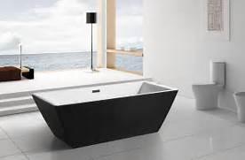 Freestanding Bath Tub by Modern Black Acrylic Freestanding 71 Square Bathroom Soaking Shower Bat