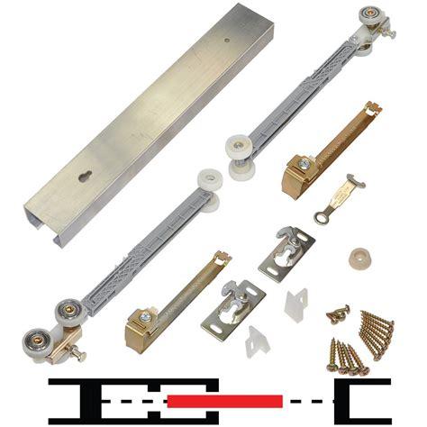 pocket door track 100pdsc 1 door hardware set 96 quot track johnsonhardware
