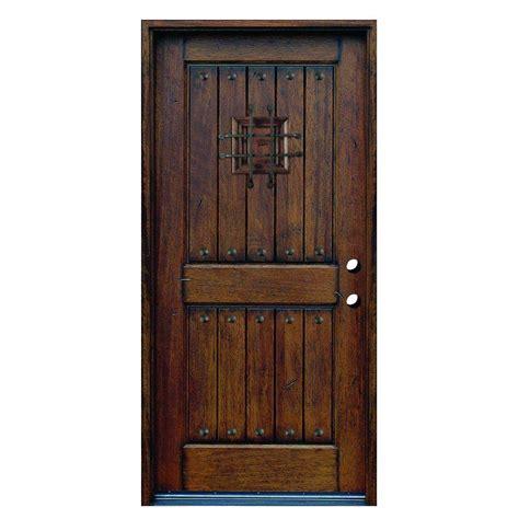 door 36 in x 80 in rustic mahogany type stained