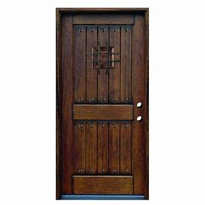 JELD-WEN 32 in. x 80 in. Woodgrain Flush Solid Core ...