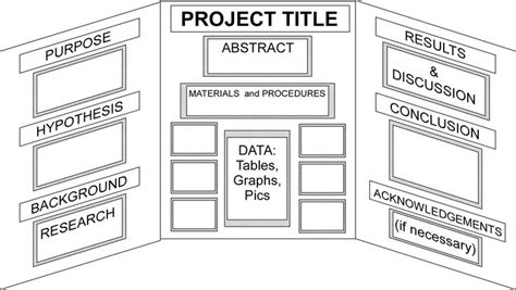 middle school science fair projects display board layout
