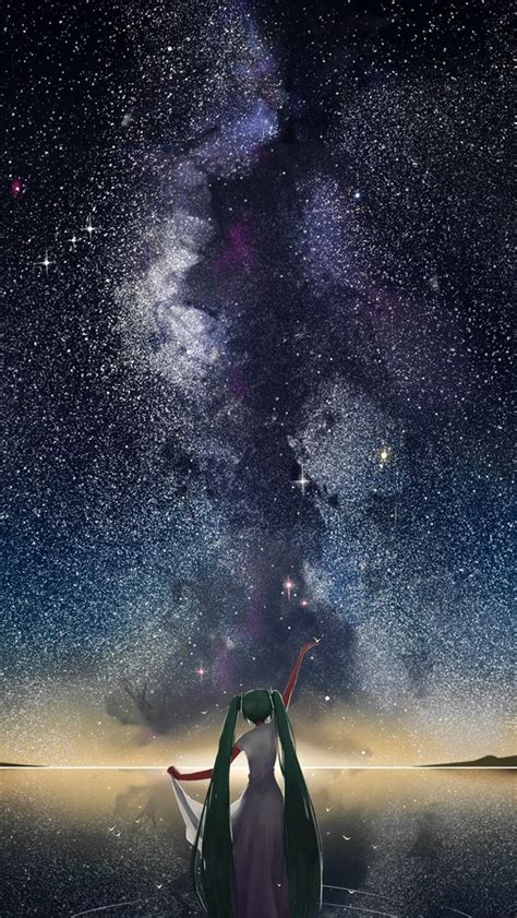 Anime Iphone Wallpaper - starry sky vocaloid anime iphone wallpapers mobile9