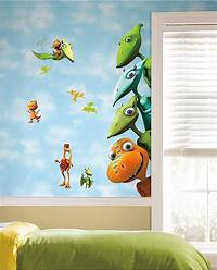interesting kidsroom wall mural Kids Bedrooms With Dinosaur Themed Wall Art And Murals