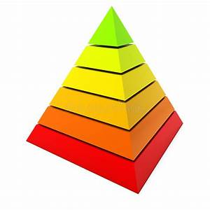 Color Pyramid Diagram Stock Illustration  Illustration Of