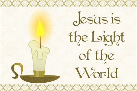 jesus is the light october 2012 free christian message cards