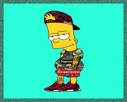 Bart Supreme Simpson Wallpapers Simpsons Pixel Bape