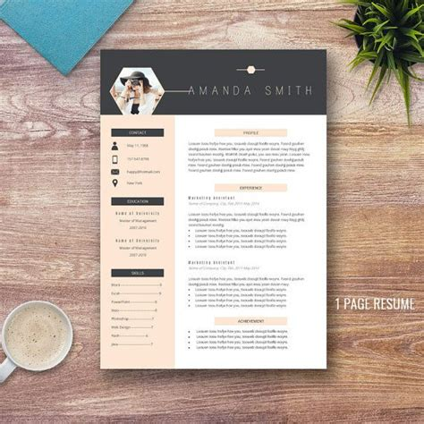 creative resume template  word    page resumes