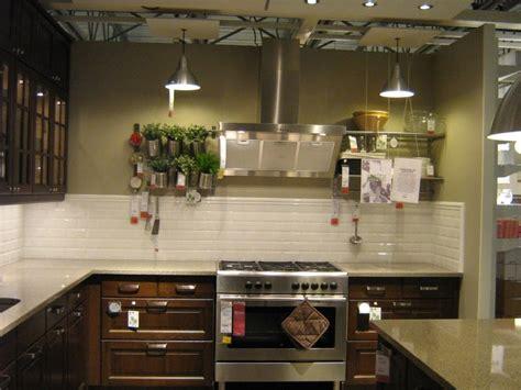 pictures  ikea kitchens gloss white subway tile backsplash