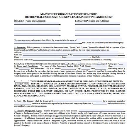 sample marketing agreement templates  google