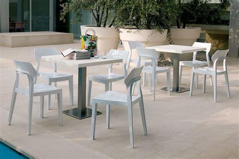chaise d extérieur chaise design de bontempi casa en polycarbonate