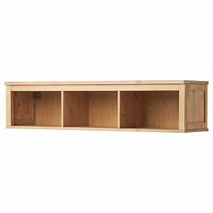 HEMNES Wall/bridging shelf Light brown 148x37 cm - IKEA