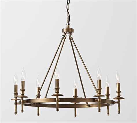 collins chandelier aged brass pottery barn
