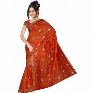 Sari indien traditionnel en soie robe indienne