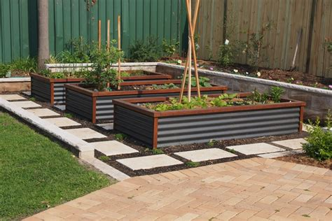 Corrugated Metal Garden Beds by Corrugated Metal Raised Garden Beds Corrugated Raised