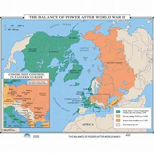 History Map #057 The Balance Of Power After World War II