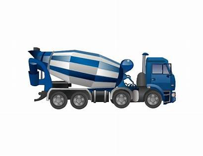 Concrete Mixer Clipart Truck Vector Industrial Library