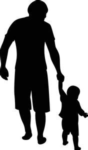 Silhouette Design Store - View Design #13788: father and son | stencil Decoration | Pinterest