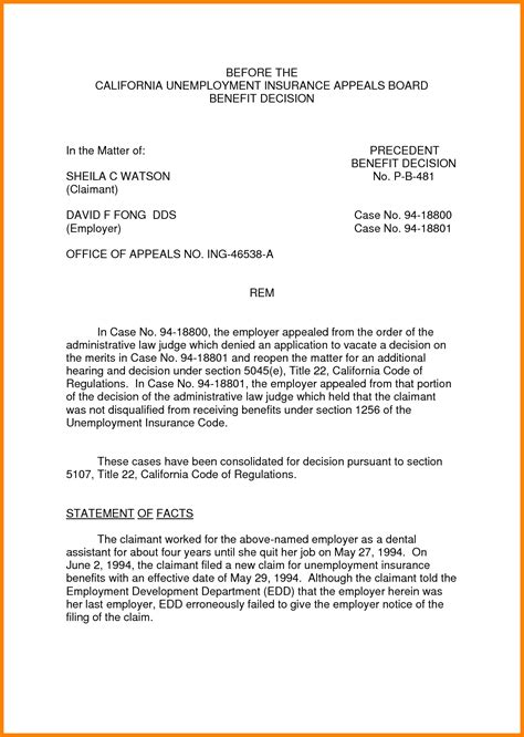 format  appeal writing appeal letter
