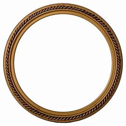 Frame Round Gold Frames Transparent Paint Circle