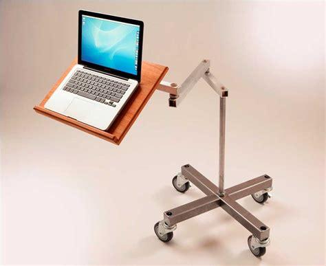 desk swing for legs impressive standing movable laptop desk design with