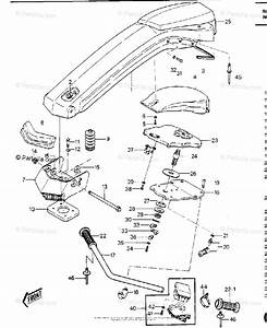 Kawasaki Jet Ski 1985 Oem Parts Diagram For Handle Pole