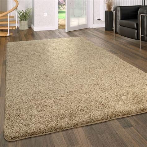 Teppich Wohnzimmer Beige by Hochflor Teppich Waschbar Einfarbig Beige Teppich De