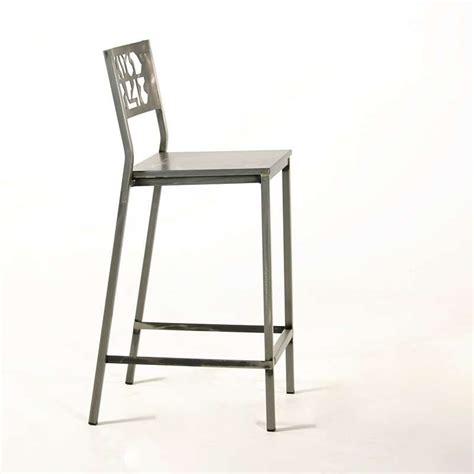 tabouret de bar acier brosse tabouret de bar en acier bross 233 slide industriel 4 pieds tables chaises et tabourets
