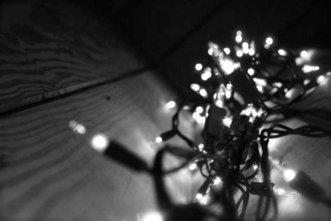 black and white christmas lights by 1biggestfanofdfa on