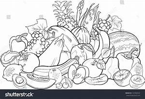Fruits And Vegetables Cartoon Black And White | www.imgkid ...