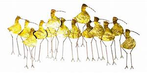 curtis jere gold metal sandpiper wall art chairish With kitchen cabinet trends 2018 combined with metal flying birds wall art