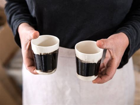 Custom ceramic coffee mugs are pretty simple to make once you learn these potters really know how to create excellent custom ceramic coffee mugs. Espresso Cup Set Of 2,Ceramic Cups In Black And White,Coffee Cup Set,Modern Look,Wedding Gi ...