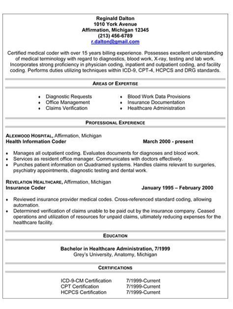 Coder Resume by Hcmedical Coder Resumewith Border Coding