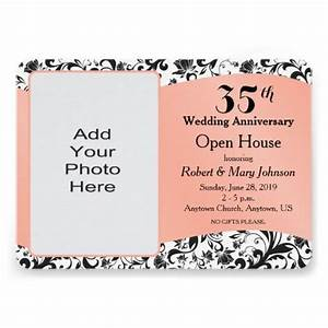 black swirl coral 35th wedding anniversary card 35th With what to give for 35th wedding anniversary