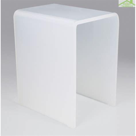 siege pour italienne tabouret de blanc novellini en acrylique opalin