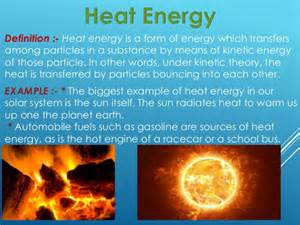 Heat Thermal Energy Definition