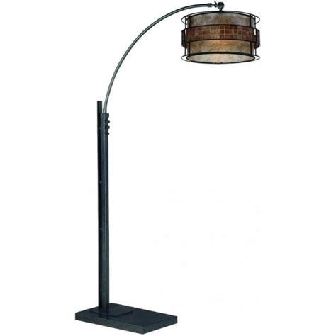 curved floor l copper elstead lighting quoizel laguna 2 light floor l in
