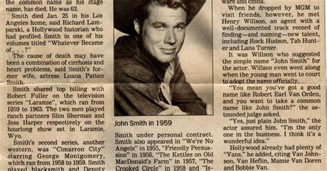 *john Smith* Aka, Slim Sherman From Laramie