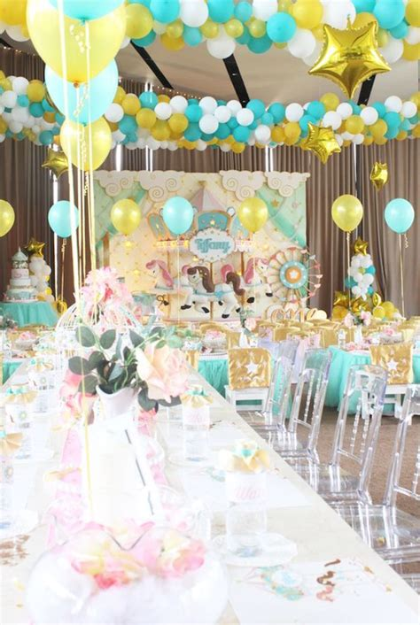Kara's Party Ideas Carousel Birthday Party  Kara's Party