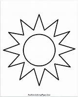 Sun Coloring Drawing Simple Sunshine Sol Cloud Para Colorear Realistic Pintar Hat Moon Colouring Printable Sheet Kid Sunglasses Sunscreen Getcolorings sketch template