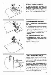 Turning Square Corners  Using The Seam Guide  N
