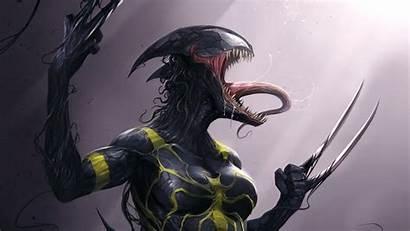 Venom Wallpapers Artwork 4k Lady Marvel Female