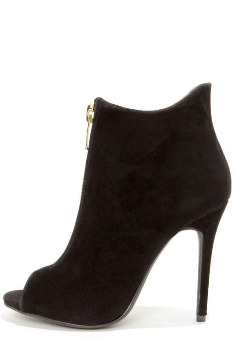 peep toe high heel boots black shoes high heel boots peep toe booties 39 00